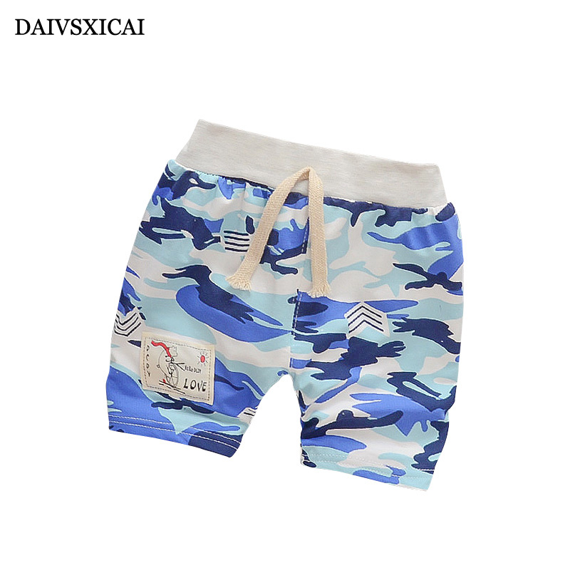 Daivsxicai  High Quality Boy Pants Cute Camouflage Kids Pants Children Fashion Casual Summer Pants Boy Baby 6-24 Month