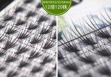 HBZGTLAD büyük kapasiteli 120 demetleri 20D Kirpik Uzantıları 0.07 Kalınlığı gerçek vizon şerit kirpikler Bireysel Kirpik Doğal Tarzı