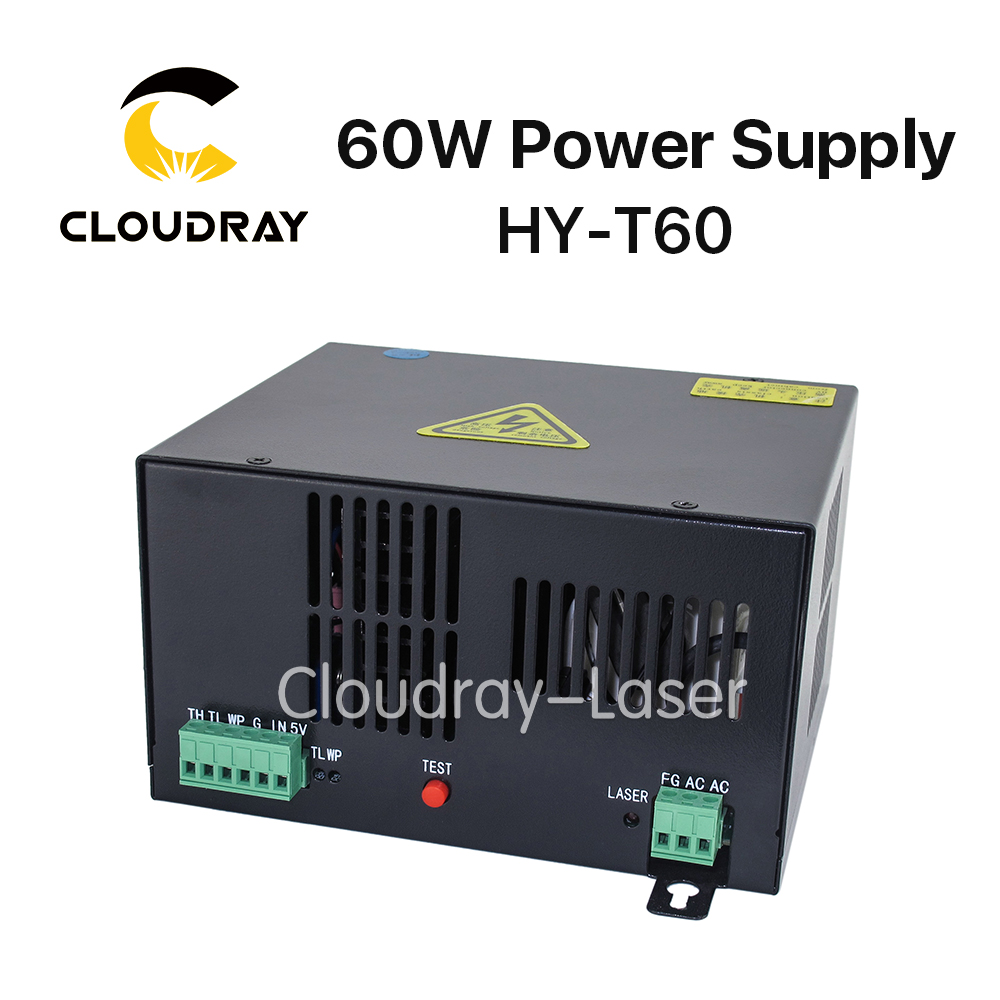 Cloudray 60W CO2 Laser Power Supply for CO2 Laser Engraving Cutting Machine HY-T60 50w co2 laser power supply for co2 laser engraving cutting machine hy t50