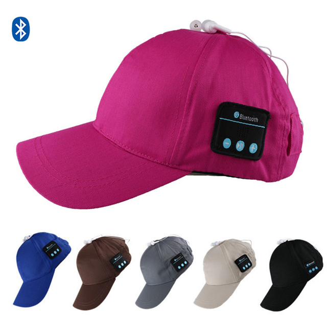 916692d6a US $11.6 28% OFF|Wireless Sport Bluetooth Music Hat Sport Baseball Running  Cap Headset 2 in 1 Hands free For Smart Phone Tablet PB013-in Running Caps  ...