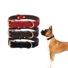Basic Leather Dog Collar Product Training for Small Medium Large Dogs Perfect Pet Walking