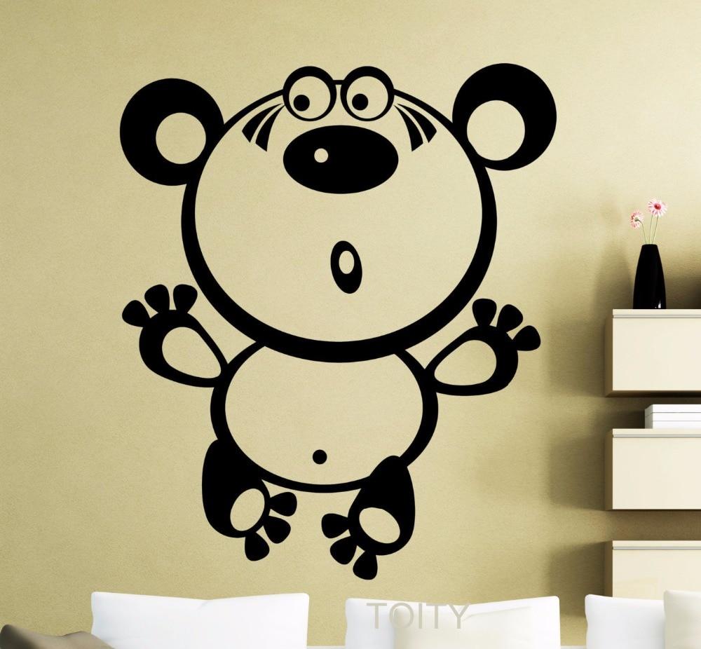 Teddy Bear Wall Sticker Nursery Vinyl Decal Home Room Interior ...