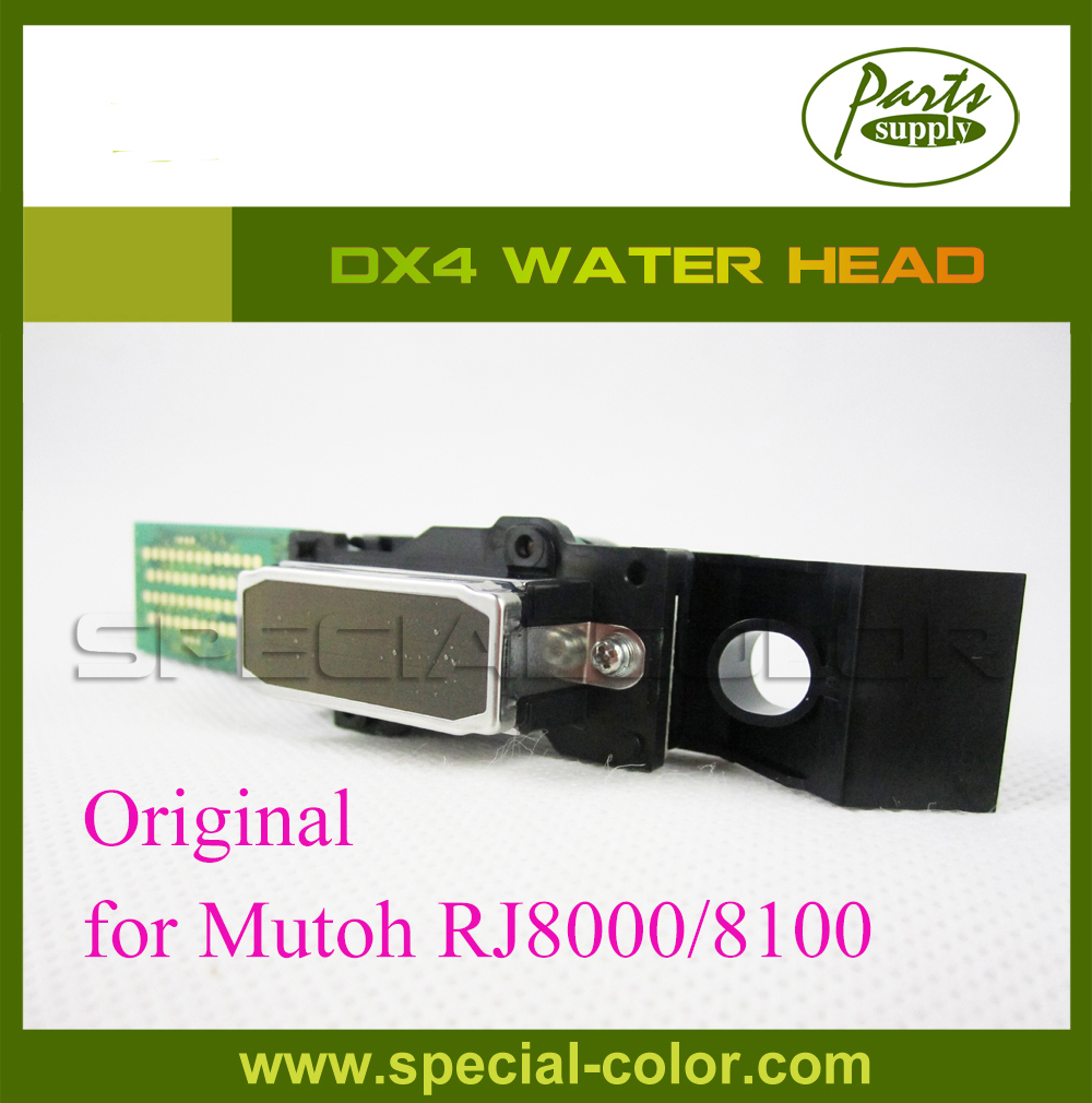 Top Selling Products!!! DX4 water based print head used on mutoh RJ8000/8100 printer (Get 2pcs DX4 Small Damper free) top quality flated uv printer spare parts gongzheng thunderjet 4 ways black uv sub ink tank on selling