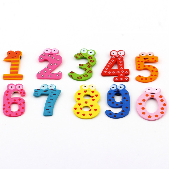 Number Magnetic Stickers