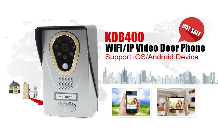 Freeship Wifi Video Doorbell Video Door Phone Wireless Doorbell Intercom Enabled Night Vision Weatherproof,unlock by phone