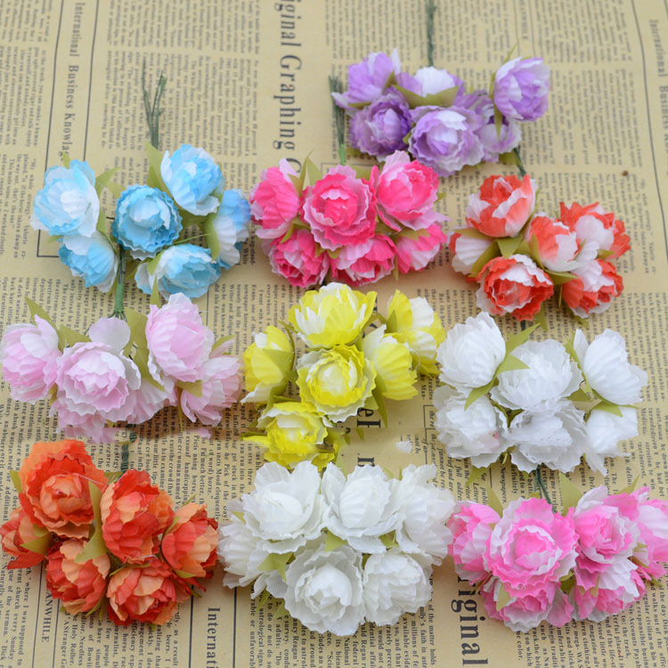 Artificial flowers fake flowers simulation flowers small bouquet of artificial flowers fake flowers simulation flowers small bouquet of roses silk flower garland handmade diy materials wholesale f in artificial dried mightylinksfo