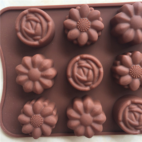 Dropshipping Cavity Silicone Flower Rose Chocolate Cake Soap Mold Baking Ice Tray Mould Islamabad