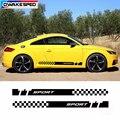 Наклейки для автомобиля  наклейки для двери  боковой юбки  наклейки для Audi TT TTRS TTS  автомобильные виниловые наклейки на заказ  спортивные пол...