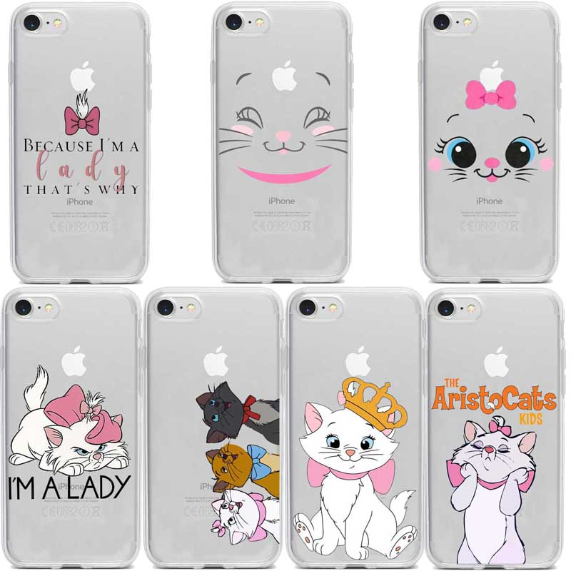 The <font><b>cartoon</b></font> AristoCats Marie Cats cat Soft TPU Cover <font><b>Case</b></font> For Apple <font><b>iPhone</b></font> XS Max <font><b>8</b></font> 7 6 5S SE 8plus XR 11PRO Fundas Coque Shell image
