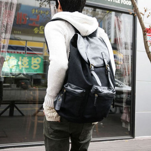 ФОТО Fashion trend casual canvas bag man  backpack bag big travel bag student school bag  free shipping