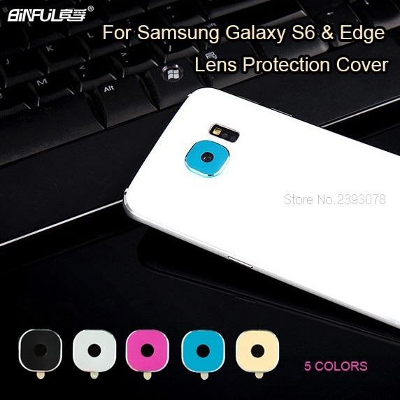 BINFUL Carcasă din spate protectie pentru camera foto pentru Samsung Galaxy S6 / S6 edge / S7 / S7 edge Obiectiv metalic Protector inel