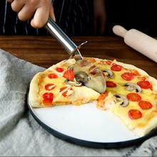 Acero inoxidable cuchillo de la pizza del rodillo rueda redonda pizza slicer gadget cocina hornear Herramientas