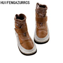 HUIFENGAZURRCS-Real Leather women's hand sewing boots on the original retro casual boots soft bottom with warm cotton boots