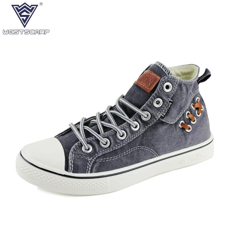 WEST SCAPR chaussures hommes décontractées mode hommes chaussures en toile haut hommes baskets hiver Chaussure Homme taille 39-44