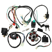 1Set Full Complete Electrics Wiring Harness CDI STATOR 6 Coil For Motorcycle ATV Quad Pit Bike Buggy Go Kart 125cc 150cc 250cc