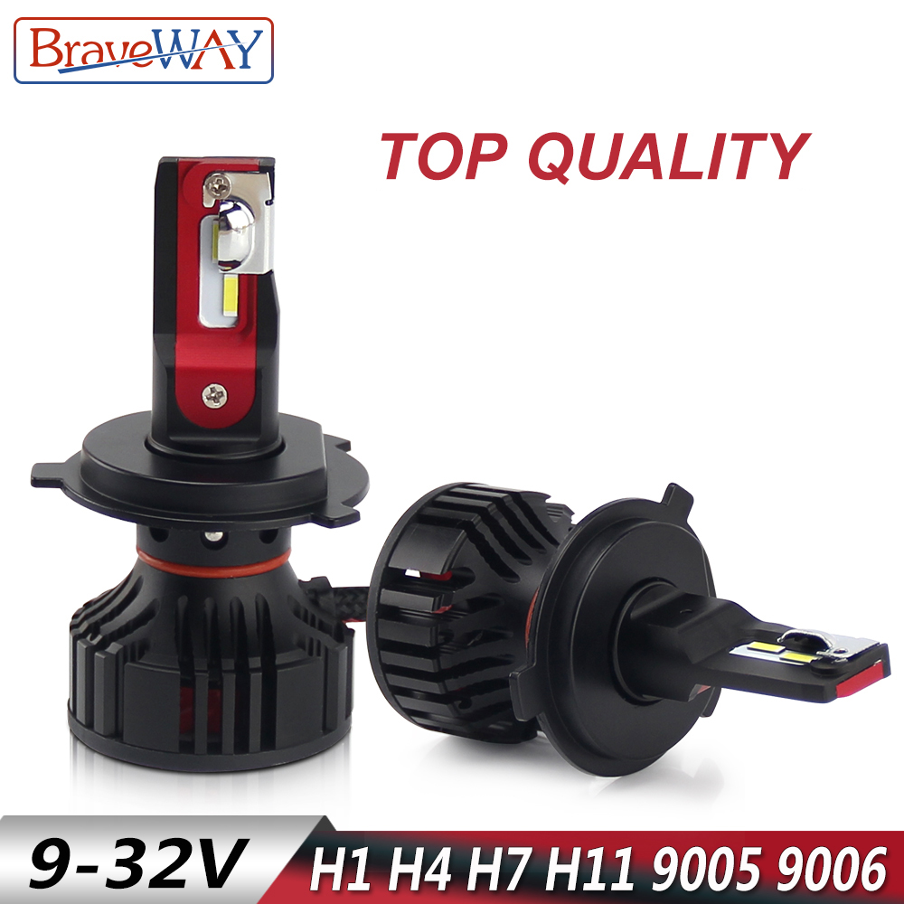 BraveWay LED Headlight Bulb H1 H4 H7 H8 H9 H11 HB3 HB4 9005 9006 H7 LED