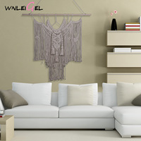 WLG Hanging wall decorations nordic handmade plant fiber big decor home decoration for living room wall hanging