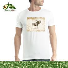 Brown Moose Vintage Men T-shirt XS-5XL NewStreetwear Funny Print Clothing Hip-Tope Mans T-Shirt Tops Tees Hot Sale Men wolf full moon men t shirt xs 5xl newstreetwear funny print clothing hip tope mans t shirt tops tees hot sale men t shirt