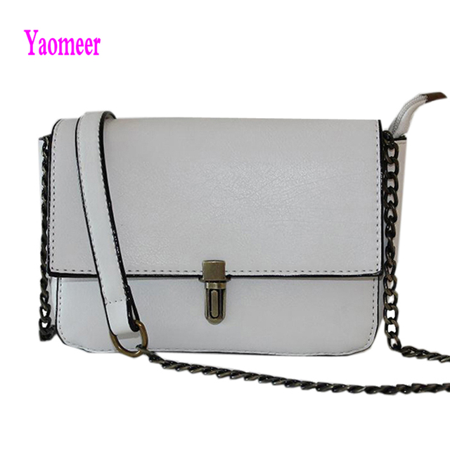 Good Price Women Hasp Lock Handbags Hot Sale Rose Red White Brown Small Flap Pu Leather Clutch Fashion Chains Shoulder Bags a33