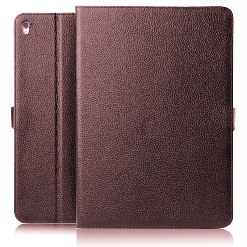 Case Cowhide For iPad Pro 9.7 inch  Protective Smart cover Genuine Leather Tablet For Apple iPad Pro 9 7 Protector Sleeve Covers surehin nice smart leather case for apple ipad pro 12 9 cover case sleeve fit 1 2g 2015 2017 year thin magnetic transparent back