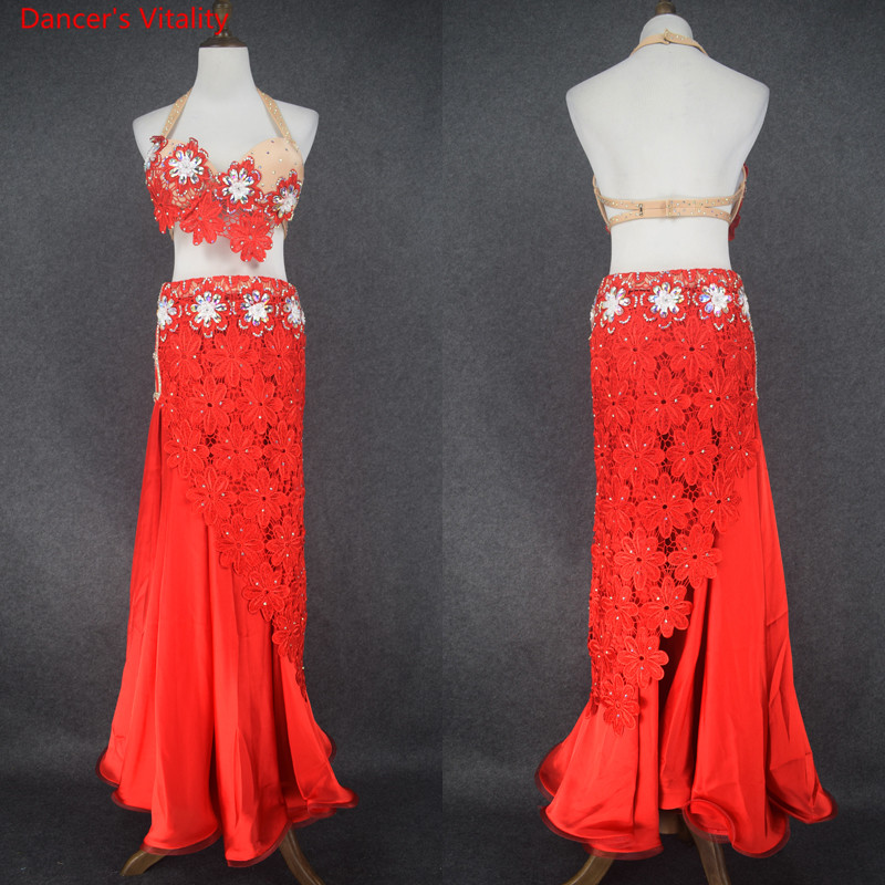 New Women Belly Dance Suit Belly Dancing Performance Clothes Oriental Dance Outfits 4PCS Sets For Lady