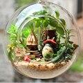 Totoro de Ensamblaje de madera DIY Dollhouse Miniatura Casas de Juguete, Mini Globo de Cristal Casa de Juguete para Niños de Regalo