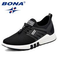BONA Men Walking Shoes Autumn Winter Sneakers Youth Outdoor Sport Shoes Men Breathable Exercise Shoes Comfortable Men Footwear