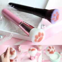 Cute Cat Claw Shape Makeup Brushes Kawaii Foundation Brush Fibre Hair+Aluminium Alloy+Wood Beauty Tool 16 5 cm New Wholesale cheap ELECOOL Wool Fiber 1pcs 16 5*1*1 cm Sets Kits Makeup Brushes Tools 16 5 x 4 1cm black pink Support