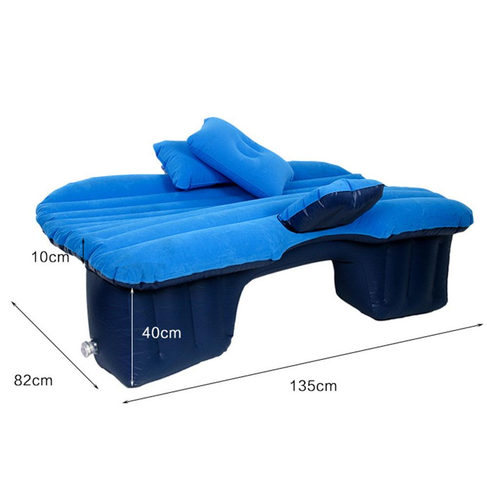 2018 Air Bed Durable Inflation Bed Car Seat Vehicle Universal Inflatable Air Mattress Bed Auto universal auto back seat cover car air inflation mattress bed drive travel car inflatable bed wave design with air pump