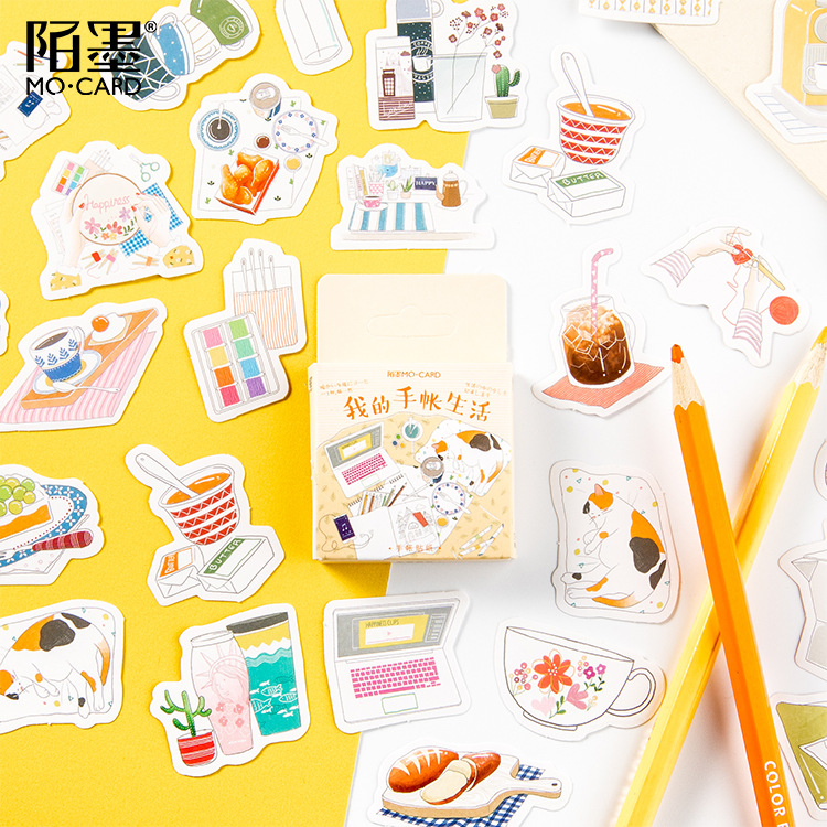Mini Box Daily Life Bullet Journal Decorative Stationery Stickers Scrapbooking DIY Diary Album Stick Lable