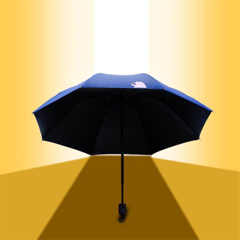 Cartoon Bear Printed UV Protect Umbrella Mini Pocket Compact Folding Sun Uv Rain 5 Light Anti Small New Travel in Umbrellas from Home Garden