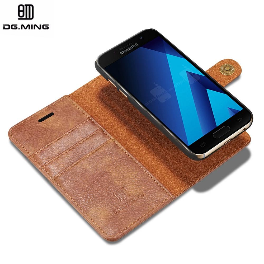 Цена за DG. Мин 2 в 1 Магнитные Флип Подлинная Кожаный Чехол Luxury Case Коке Fundas Capinha Case Для Samsung Galaxy A5 2017 A520 Капа