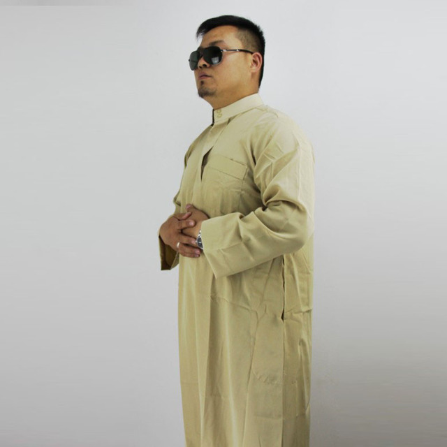 Custom Muslim men clothing Stand collar ,long sleeve Men's robes