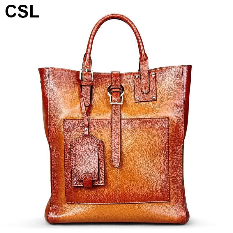 New luxury women handbag Soft Cow Leather Shoulder handbags high capacity Genuine Leather comfortable feel woman