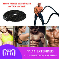 1Pc 12M/15M heavy ripple fighting rope Crossfit Professional Sport Power Rope Fitness Battle Rope muscle strength training HWC