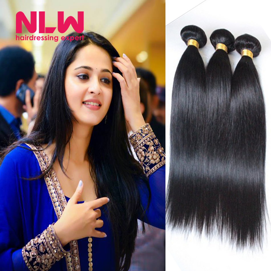 Top Quality N.L.W. Products  Brazilian Virgin Hair Straight 3 Bundles  8A Unprocessed Free Shipping  Bouncy and Shiny Weft