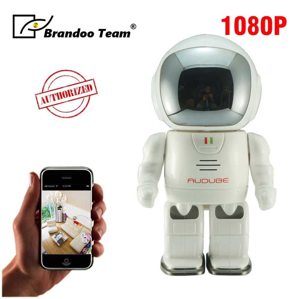 цена HD 1080P Robot Camera Smart Security IP Camera WiFi Camera Support P2P Night vision Two way Audio TF Card Slot