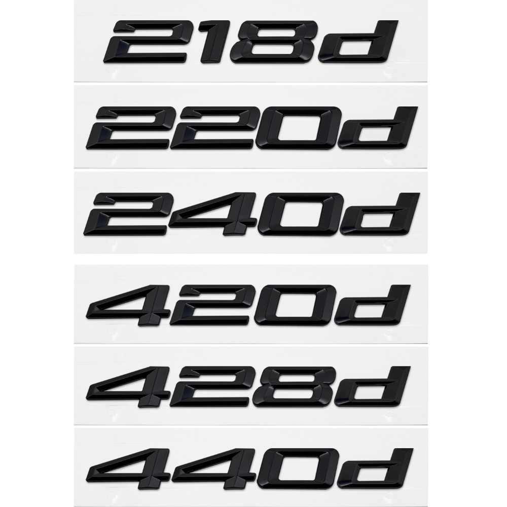 Diy Sticker Achter voor BMW 218d 220d 240d 420d 428d 440d F22 F45 F32 F33 Zilver Glossy Decal Badge Automobiles exterieur Decoratie