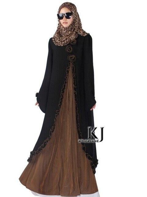 2015New Прибытия Исламская Мусульманский длинное платье для Женщин Малайзии abayas в Дубае Турецкие дамы одежда высокого качества длинное платье KJ