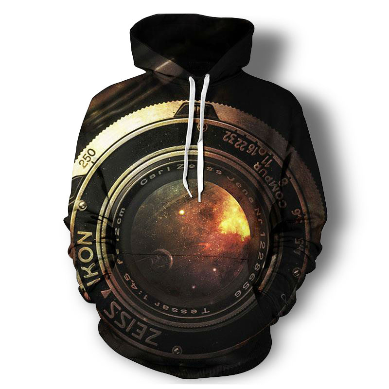 Camera Lens 3d All Over Printed Hoodies
