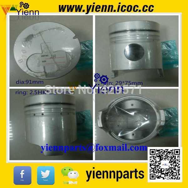 Toyotai 2h Piston With Pin And Clips 91mm For