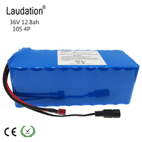 laudation 36v 12ah electric bike battery 18650 Li Ion Battery 10S4P 500W High Power and Capacity Motorcycle Scooter with BMS