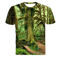 2016 New Summer Designer 3D Printed T Shirt Men'S Short Sleeve Tshirt Creative forest Men'S T-Shirt m-4XL