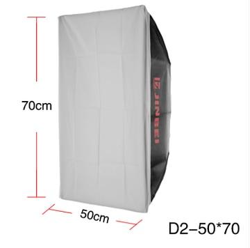 light box  for speed light flash  Jinbei d2-50 70 softbox d-200 d-250 small digital flash light softbox CD50 jinbei em 35x140 grids soft box
