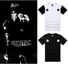 blackboyplace ambition been trill male short sleeve T font b shirt b font baseball leather digital