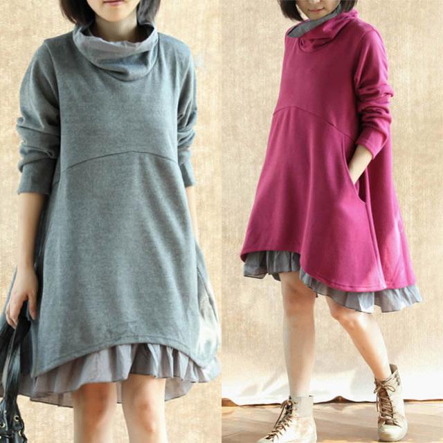 Nova Chegada do Outono/Inverno/Primavera de Manga Longa Vestidos de Maternidade Vestido de Grávida para A Gravidez Roupas Gravidez Gravida Clothes