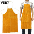 Leather Welding Apron Protective Clothing Carpenter Blacksmith Gardening Work Protective Clothing Fire-Retardant Insulation