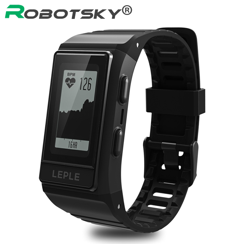 GPS Tracker Smart Band Heart Rate Monitor Fitness Tracker IP68 Waterproof Wristbands Outdoor Display Screen for Android /IOS