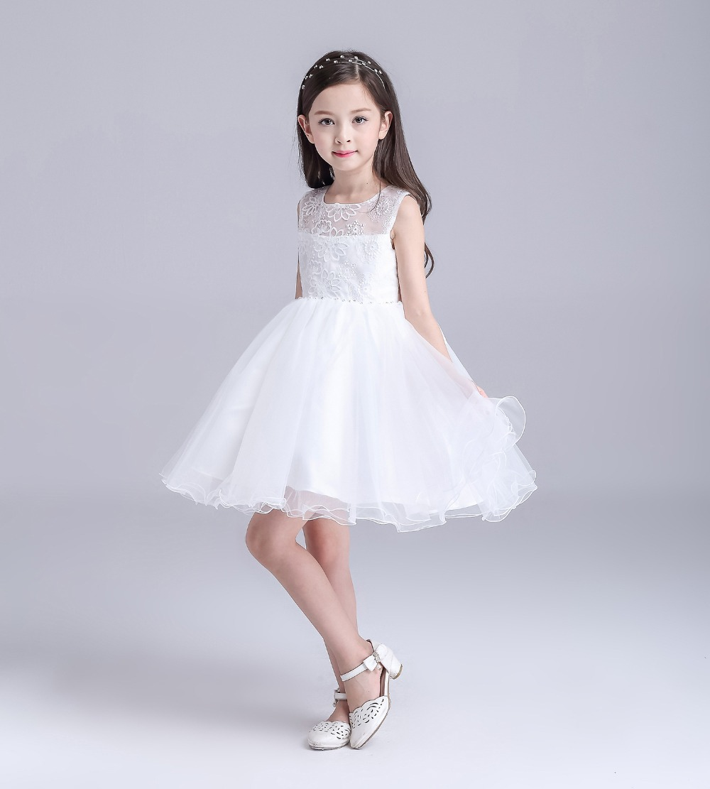 Black dress teenager - Aliexpress Com Buy White Flower Girls Bridesmaid Dress Teenager