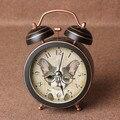 Сигнальный колокол будильник ретро большой офис студенты ленивый большой колокол вокальный свет немой часы